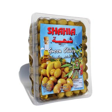 VACCUM PACKED GREEN OLIVES 900g