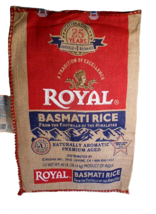 BASMATI ROYAL RICE 40LB