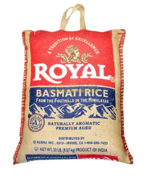 BASMATI ROYAL RICE 20LB